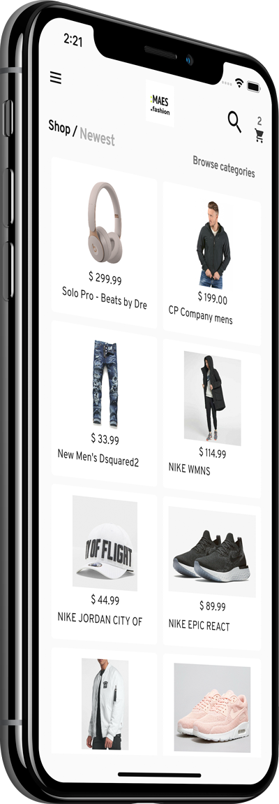 label StoreMax WooCommerce App template preview