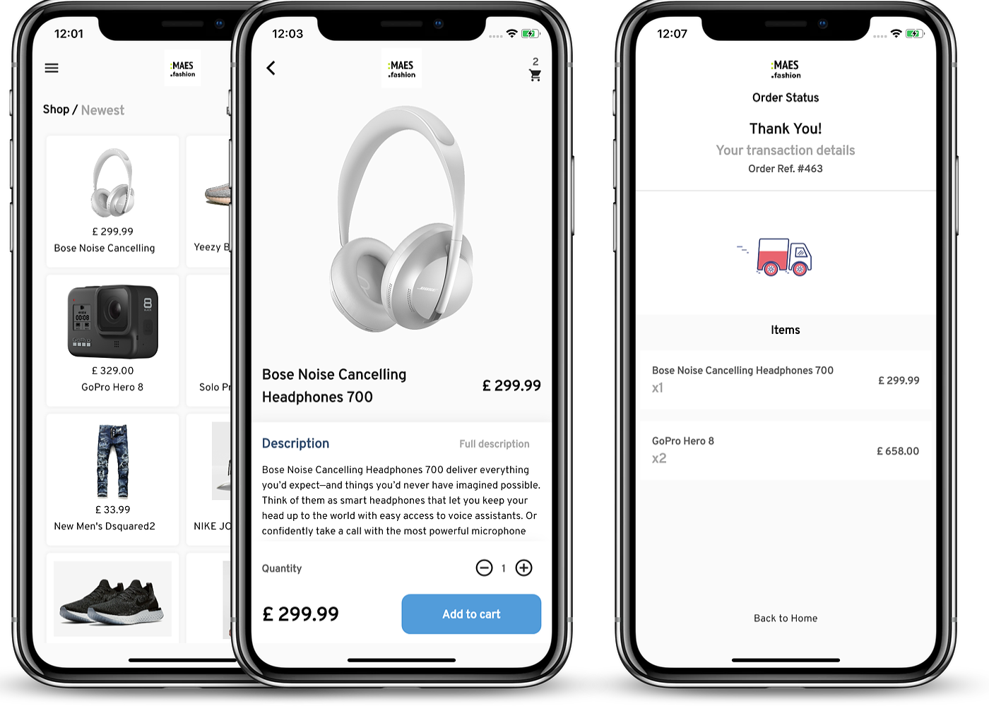 Mobile WooCommerce app experience Label StoreMax