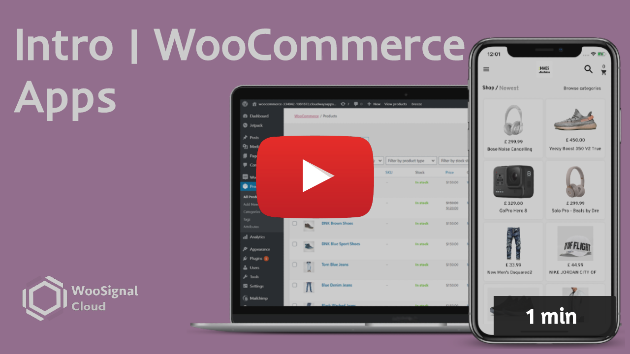 How to create a WooCommerce app for your store - YouTube video by WooSignal